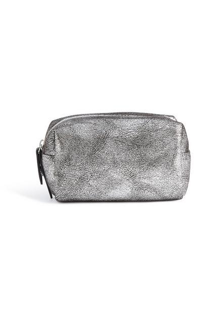 Silver Glitter Makeup Bag
