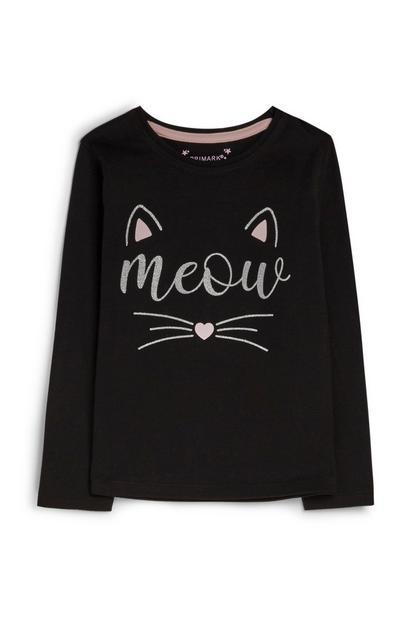 Pullover mit Katze (kleine Mädchen)