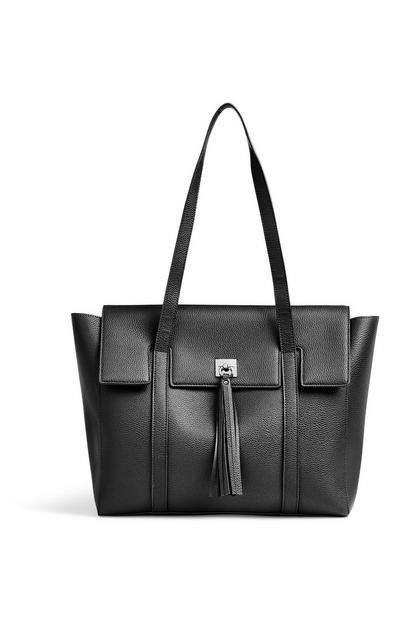Black Tassel Tote Bag