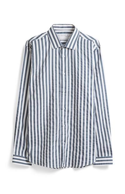 Grau-weiß gestreiftes Hemd
