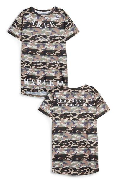 Older BoyCamo Stripe T-Shirt