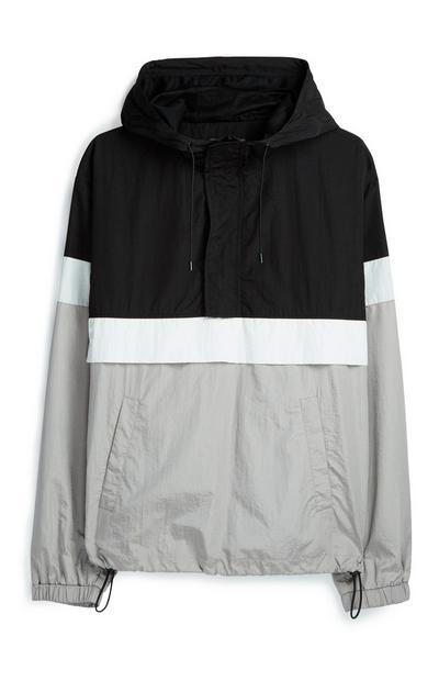 Grau-schwarze Jacke