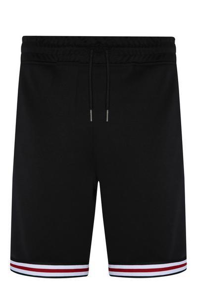 Schwarze Shorts mit Streifen