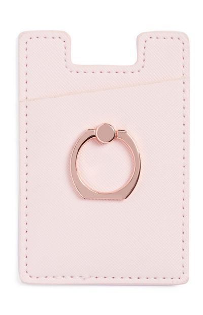 Pink Stick On Card Holder