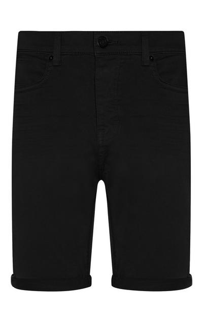 Schwarze Shorts mit Stretch