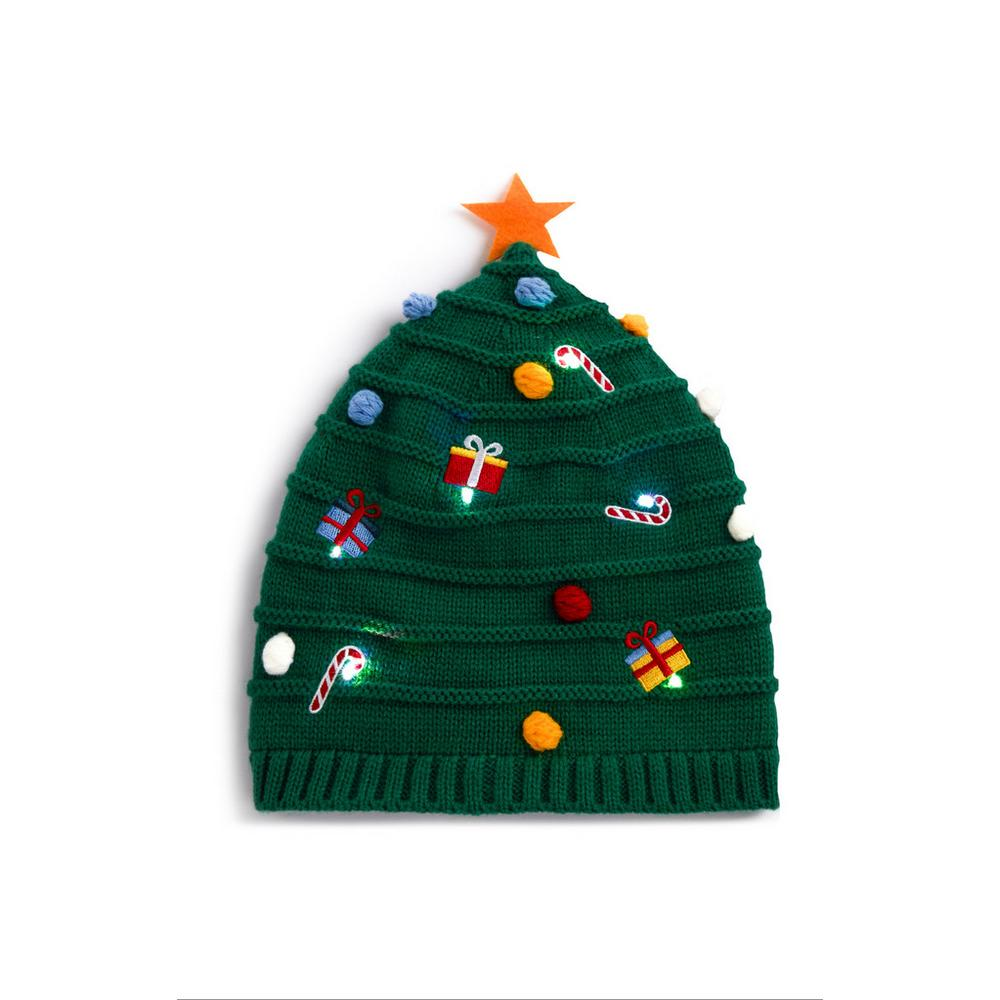Christmas Tree Hat.Green Novelty Christmas Tree Hat Accessories Mens