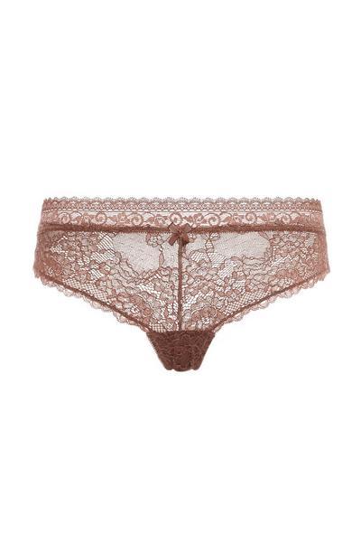 Blush Lace Brazilian Briefs