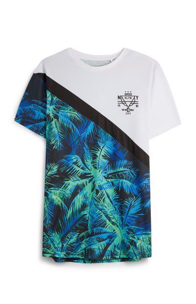 T-Shirt mit Palmenmuster
