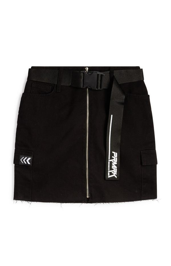 PRMRK Belted Denim Skirt