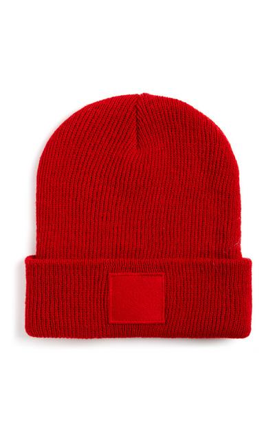 Red Turn Up Beanie
