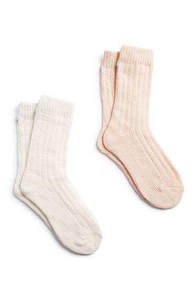 Soft Crew Socks 2Pk