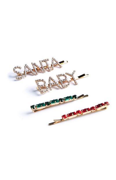 Santa Baby Hair Clips