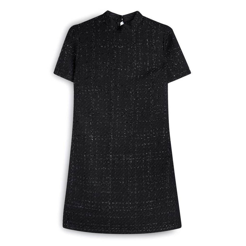 Black Shimmery Boucle Tunic by Primark