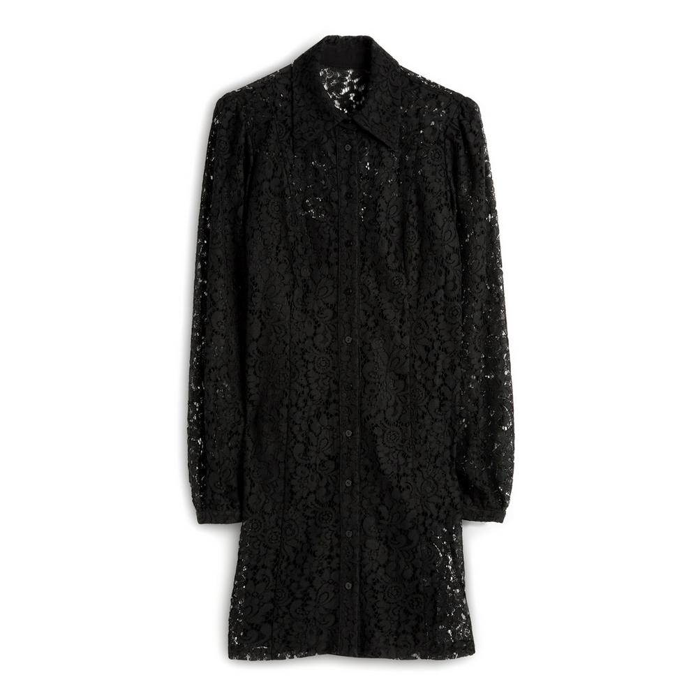 Black Lace Shirt Dress by Primark