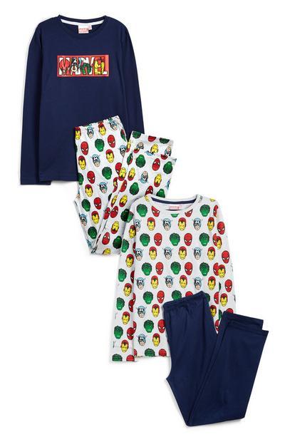 Older Boy Marvel Pyjamas 2Pk