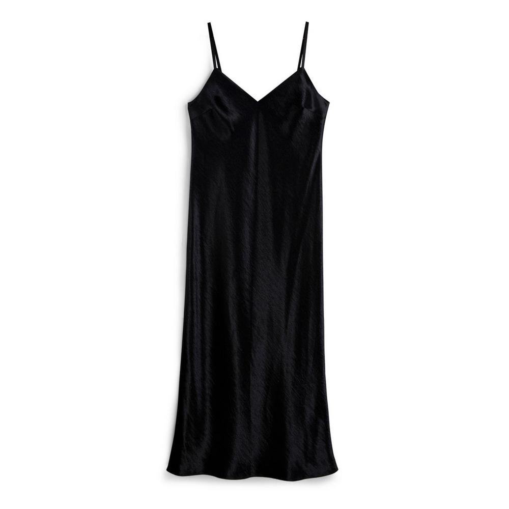 Black Satin Slip Dress by Primark