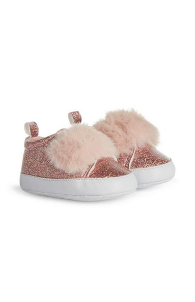 Baby Girl Pink Glitter Boots