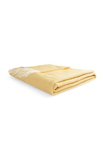 Yellow Tassel Throw