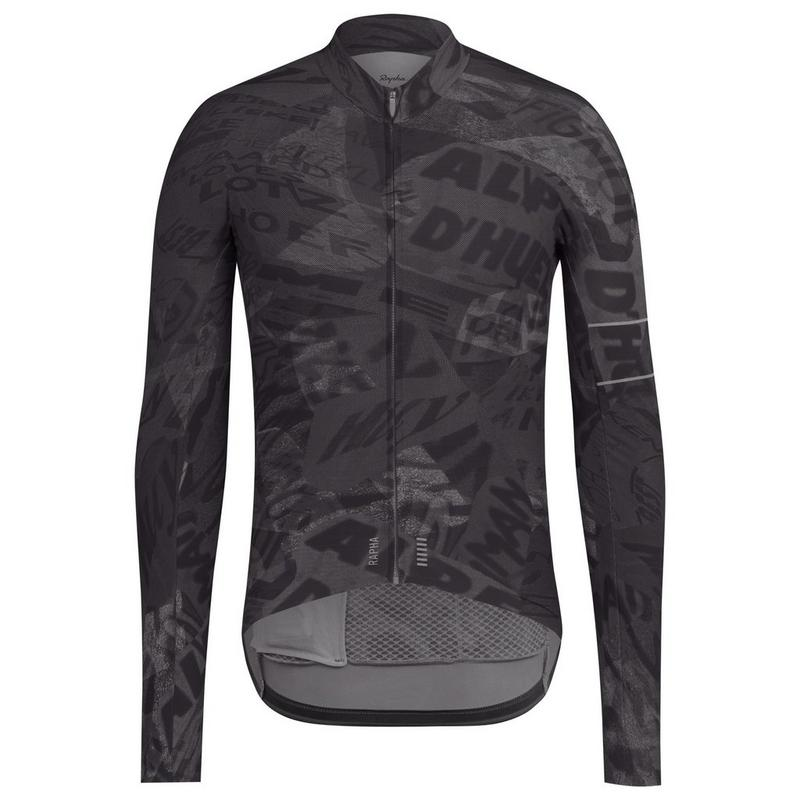 Graffiti Print Pro Team Long Sleeve Thermal Jersey
