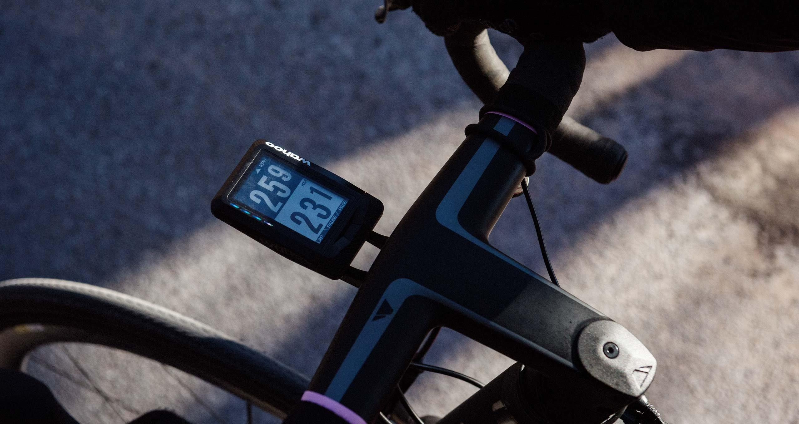Wahoo Elemnt mounted to Canyon RCC bike