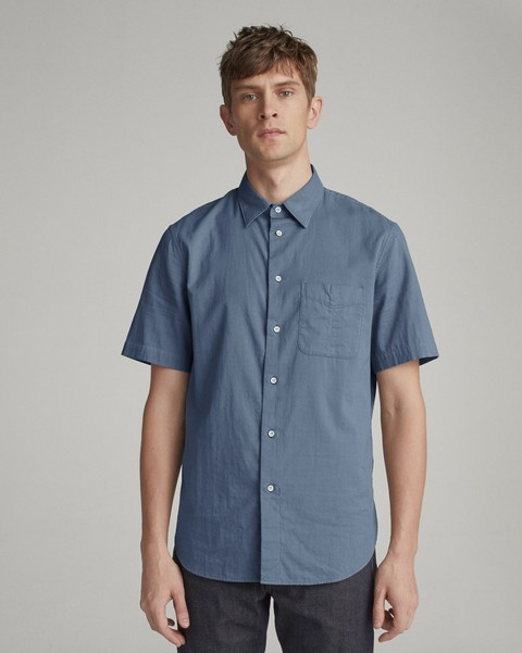 RAG & BONE FIT 3 CLASSIC SHORT SLEEVE BEACH SHIRT