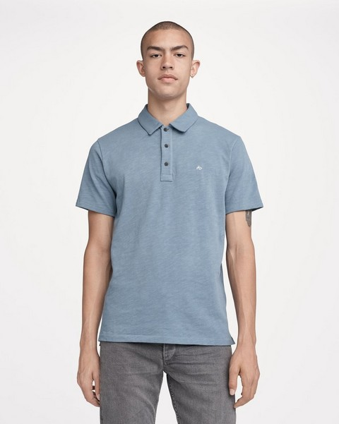 RAG & BONE STANDARD ISSUE SOLID POLO