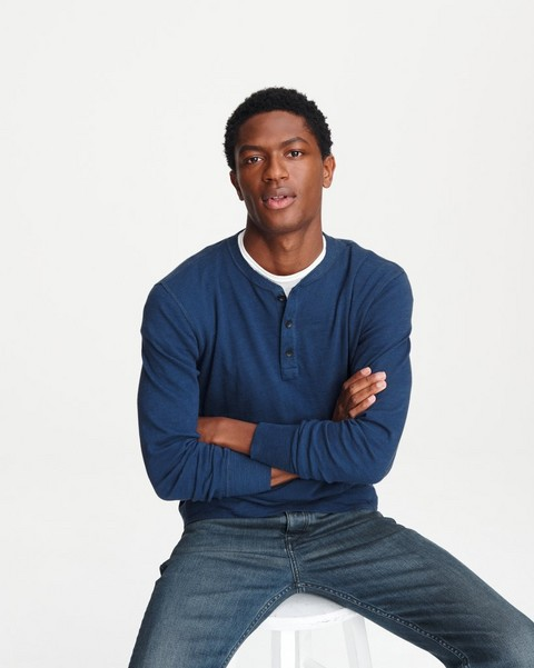 RAG & BONE CLASSIC LONG SLEEVE HENLEY