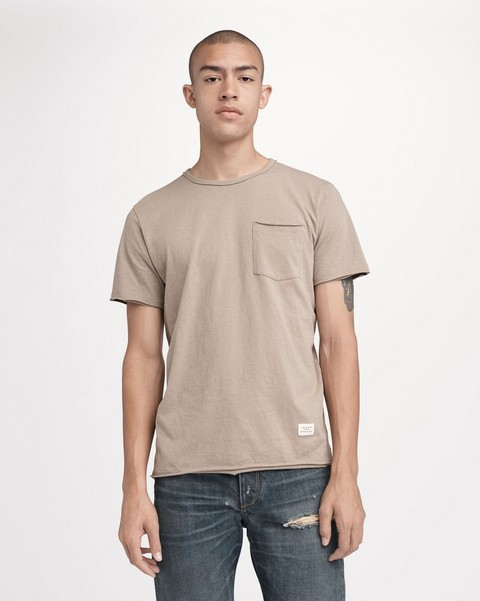 RAG & BONE RAW EDGE POCKET TEE