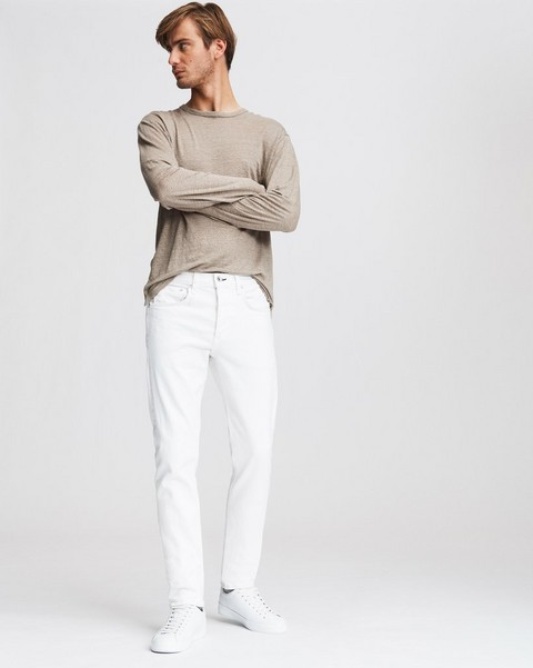 RAG & BONE FIT 2 IN WHITE BROKEN TWILL