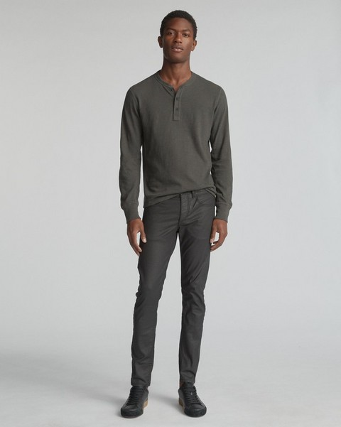 RAG & BONE FIT 1 IN COATED BLACK