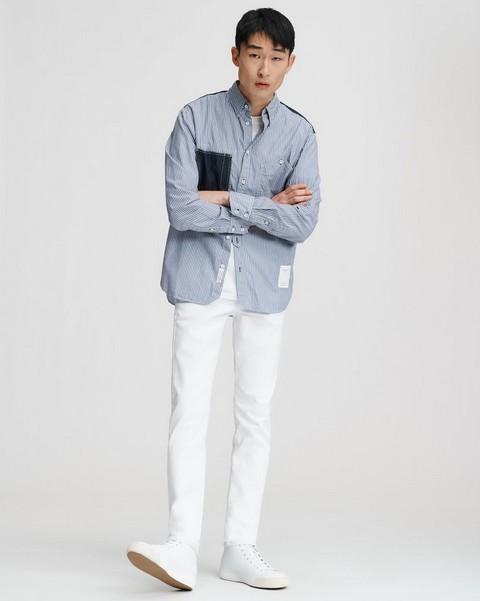 RAG & BONE FIT 1 IN WHITE BROKEN TWILL