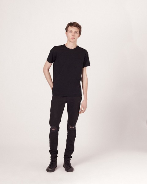 RAG & BONE FIT 1 IN BLACK WITH HOLES