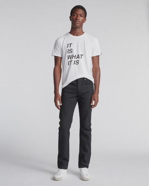 RAG & BONE FIT 2 IN BLACK SELVEDGE