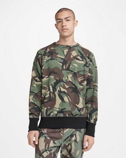 RAG & BONE ALL OVER CAMO SWEATSHIRT