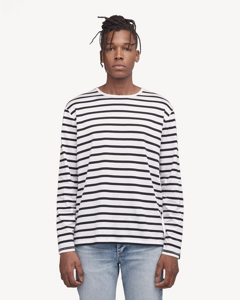 RAG & BONE HENRY STRIPE LONG SLEEVE