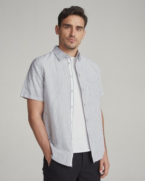 RAG & BONE FIT 3 SHORT SLEEVE BEACH SHIRT