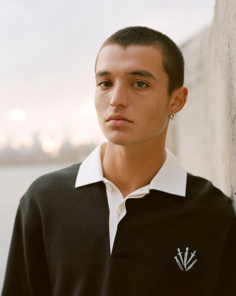 RAG & BONE LONG SLEEVE RUGBY POLO