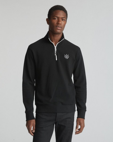 RAG & BONE LONG SLEEVE PIQUE PULLOVER
