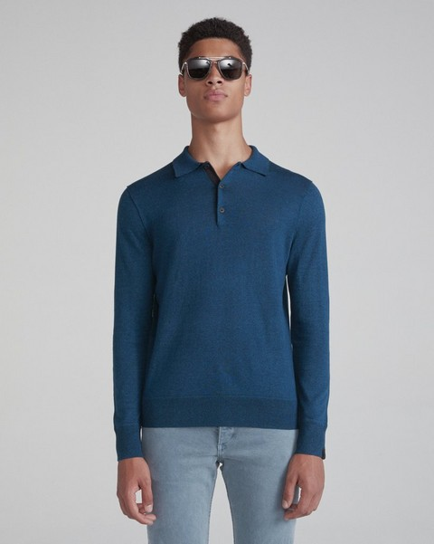 RAG & BONE DEAN LONG SLEEVE POLO