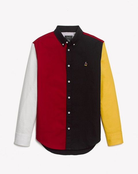 RAG & BONE MICKEY FIT 2 TOMLIN OXFORD COLORBLOCK