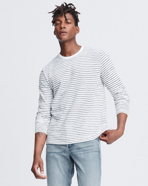 RAG & BONE RAILROAD STRIPE LONG SLEEVE TEE