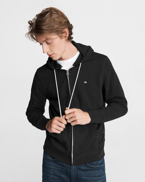 RAG & BONE Core Zip Cotton Hoodie