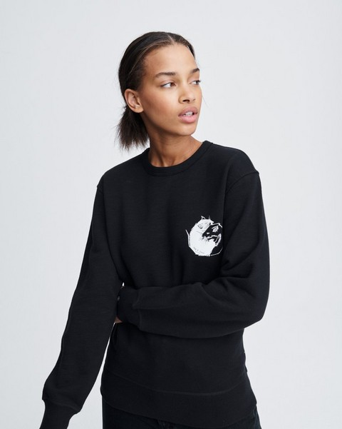 RAG & BONE YIN YANG RAT SWEATSHIRT