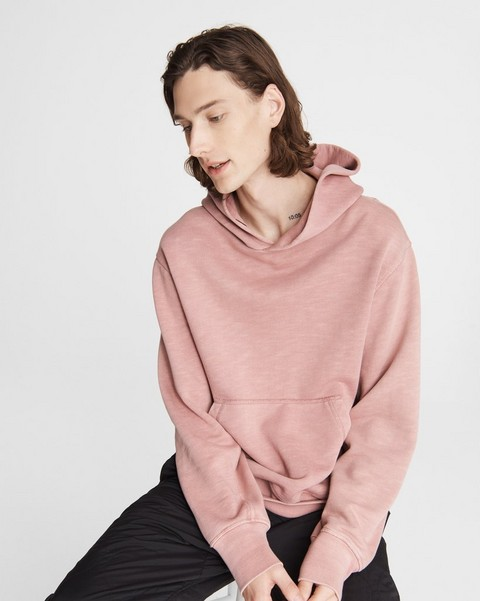 RAG & BONE Damon Garment Dye Cotton Hoodie