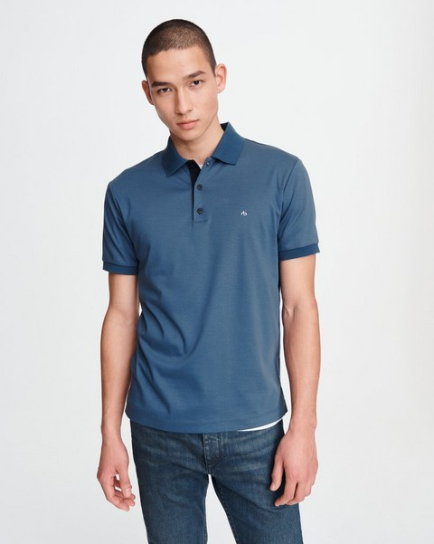 RAG & BONE SHORT SLEEVE INTERLOCK POLO