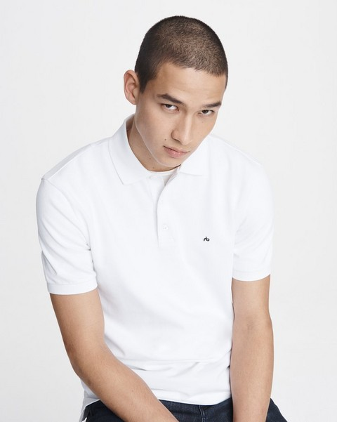 RAG & BONE Hyper-Laundered Pique Polo