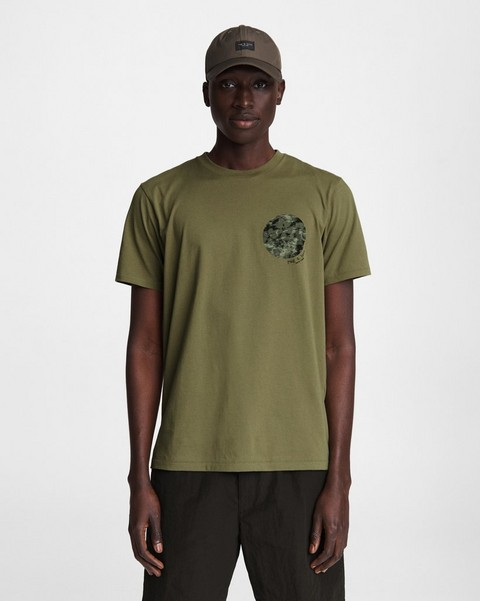 RAG & BONE Floral Camo Cotton Tee