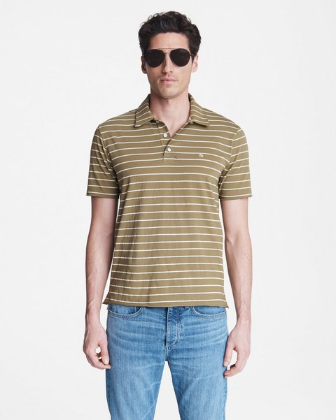 RAG & BONE Principle Jersey Stripe Polo