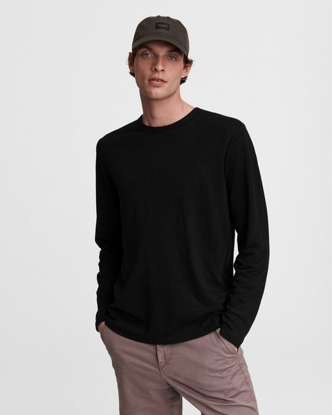 RAG & BONE Linen Cotton Jersey Long Sleeve Tee
