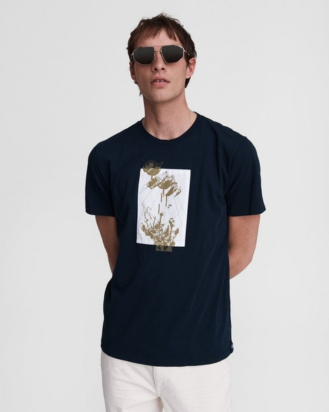 RAG & BONE Glitched Floral Cotton Tee